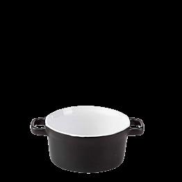 Cocotte individuelle noire Ø 10 cm 25 cl