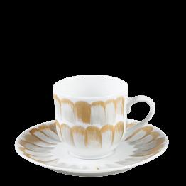 Tasse et sous-tasse à café Plumes 12 cl