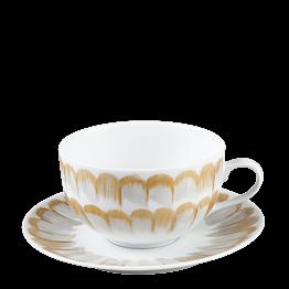 Tasse et sous-tasse à thé Plumes 20 cl