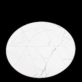 Assiette de présentation marbre filet or Ø 33 cm