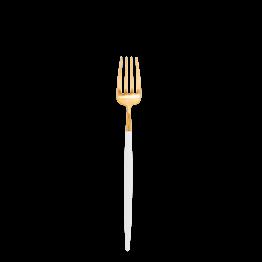 Fourchette à entremets Cutipol blanc et or