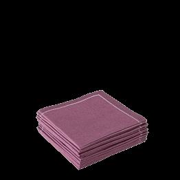 Serviettes tissu aubergine 2 plis 20 x 20 cm (par 30)