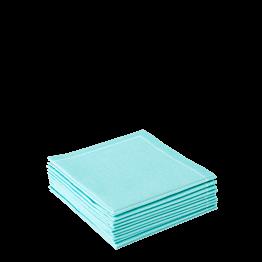 Serviettes tissu vert d'eau 2 plis 20 x 20cm (par 30)