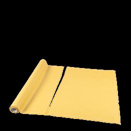 Sets de table/serviettes tissu jaune moutarde 48x32 en rouleau 12