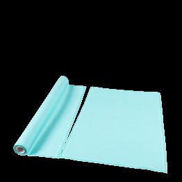 Sets de table/serviettes tissu vert d'eau 48x32 en rouleau (12)