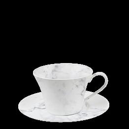 Tasse et sous-tasse à café Marbre 14 cl