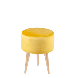 Pouf Juliette jaune moutarde Ø 35 cm H 44 cm
