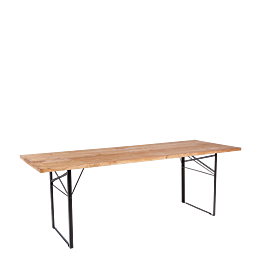 Table Wood rectangulaire 90 x 220 cm H 72 cm