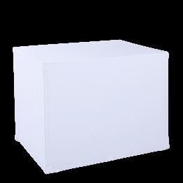 Desserte pliante blanche 70 x 90 cm H 72 cm