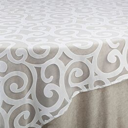 Sur-nappe Séville blanc 290 x 290 cm