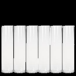 Lot de 6 vases cylindriques en verre Ø 10 cm H 40 cm