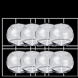 Lot de 8 vases boules Ø 8,5 cm H 7,5 cm