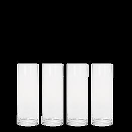 Lot de 6 vases cylindriques en verre Ø 9 cm H 25 cm