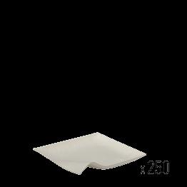 Lot de 250 assiettes carrées Nature 8 x 8 cm - biodégradable