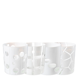 Gobelet Mélodie blanc Ø 8 cm H 9 cm