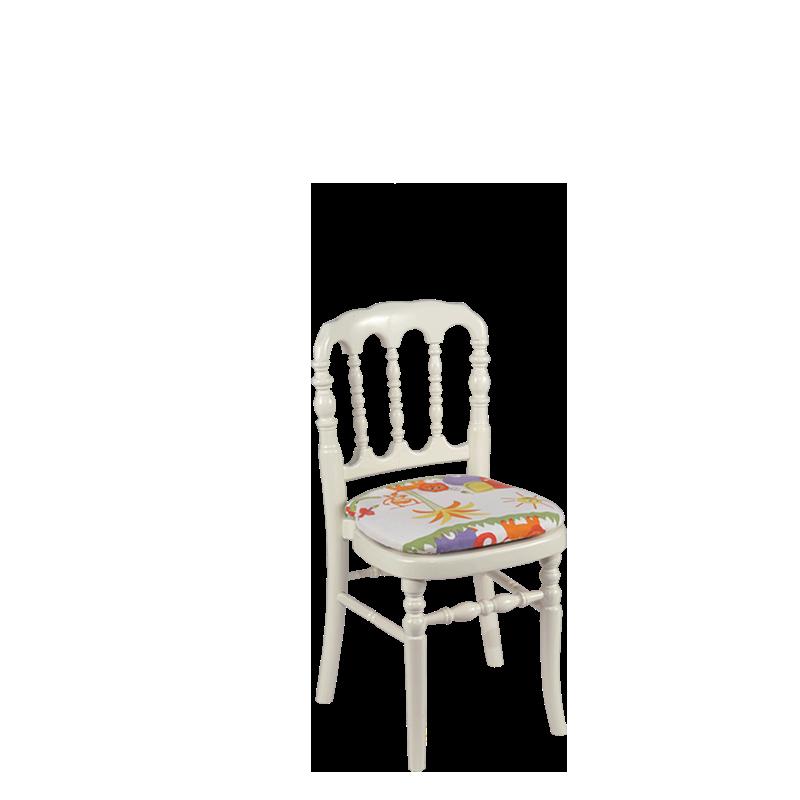 Chaise Napoleon III Blanche Enfant
