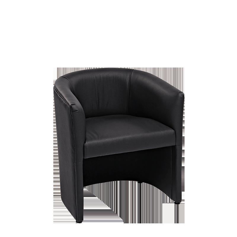 Fauteuil Club Sim Noir 70 X 63 Cm H 76 Cm