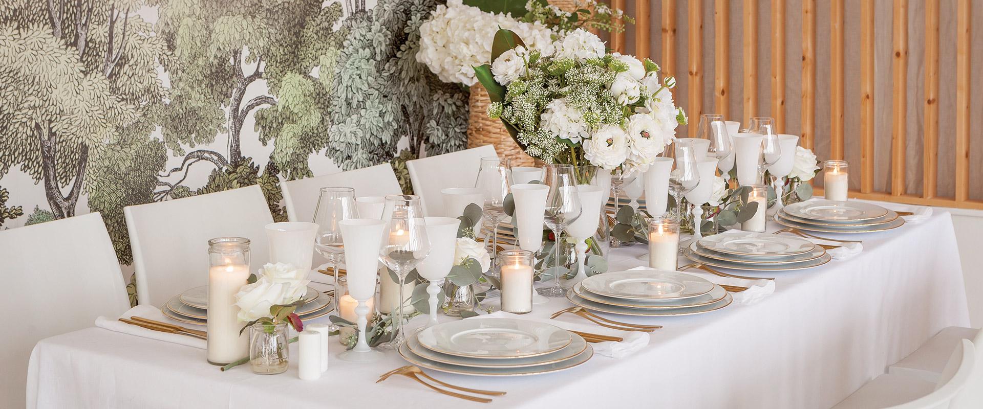 Table Blanc Végétal