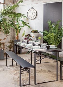 Table kermesse noire